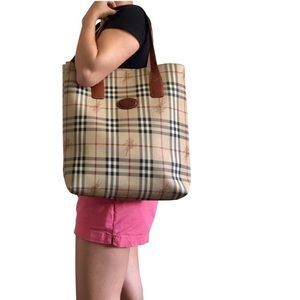 Authentic BURBERRY large nova check tote